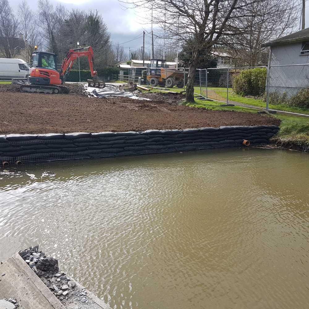 Flex MSE project in Dromineer | Landtech Soils Ltd